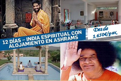 viaje espiritual ashrams