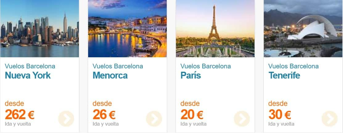 oferta de vuelos take travel